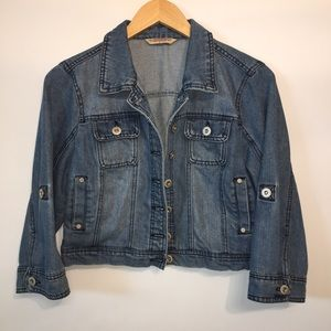Cropped Blue Denim Jacket